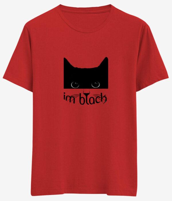 i am black kedi tisortu kirmizi e1633547070963