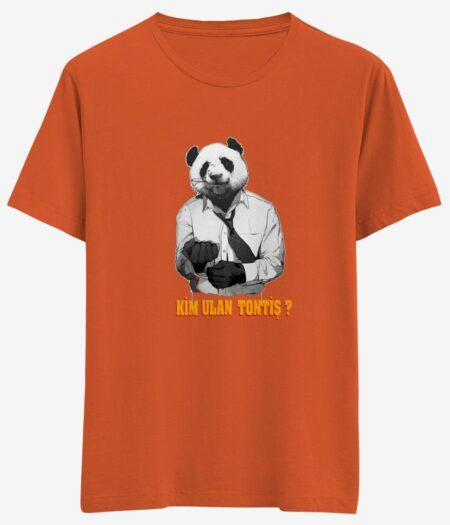panda tisortu turuncu tisort