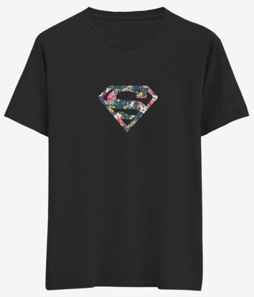 Çiçek Baskılı Kadın Tişört Modeli