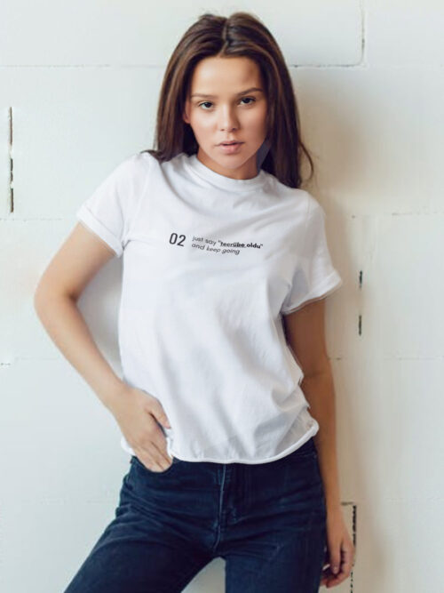 Kadın tasarım tişört modeli