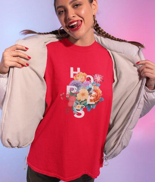 tasarım kadın tişörtü hopes