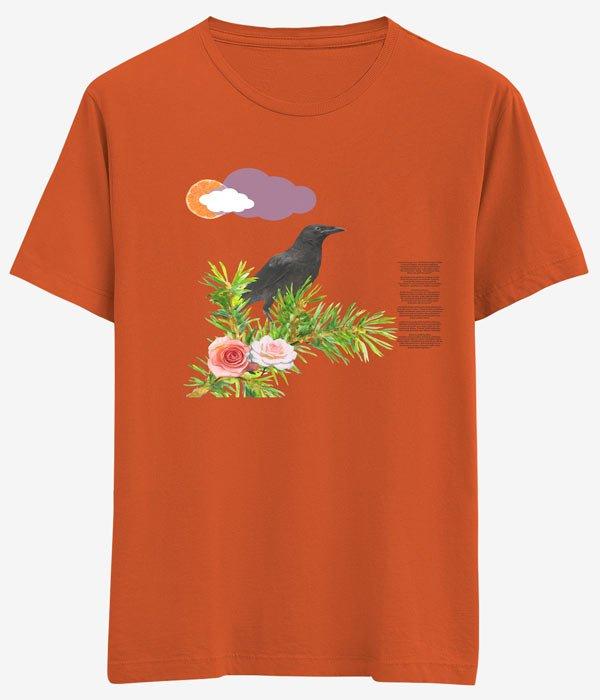tasarim risort kuzgun ve cicekler turuncu