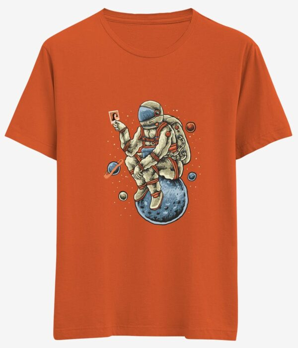 tasarim tisort turuncu astronot major tom