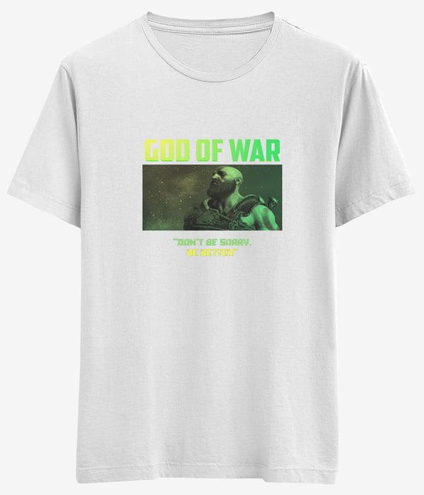god of war tisortu beyaz