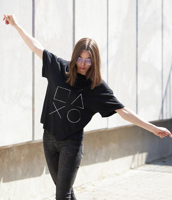 Gamer tişört kadın