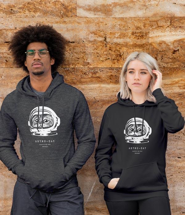 tasarim sweatshirt astrocat modeller