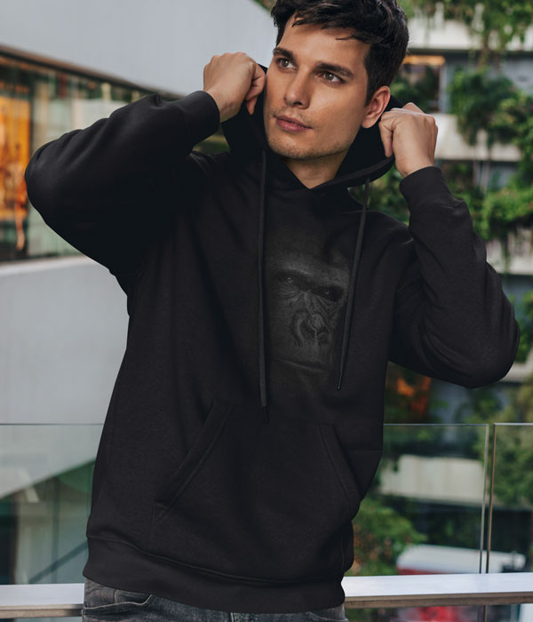 kapsonlu sweatshirt model erkek