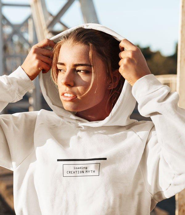 tasarim sweatshirt loading myth on model